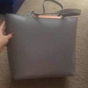Ted Baker tote bag core leather large shopper mint